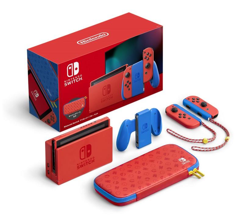 「Nintendo Switch マリオレッド×ブルー セット」が2月12日に発売!!